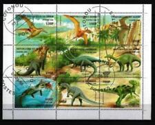 Animaux Préhistoriques Bénin (32) série complète 9 timbres oblitérés