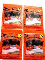 Lot 4 Halloween 30 X 24 Pumpkin Leaf Trash Bags Orange Yard Decor Jack-O-Lantern