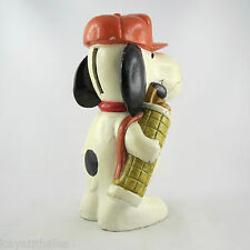 "Ancienne TIRELIRE Vintage ""SNOOPY GOLFEUR"" money box/piggy bank/golf/bd/1950/60"