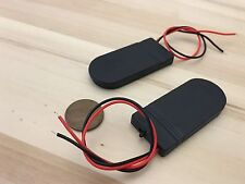 2 pieces CR2032 Button Coin Cell Battery Holder Case Box On Off Switch Wire B10