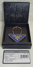 Prada Blue Leather and Gold Coloured keyring