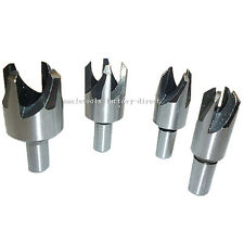 """4pcs Wood Plug Cutter Cutting Tool Tapered Taper Drill Bit 5/8"""" 1/2"""" 3/8"""" 1/4"""""""