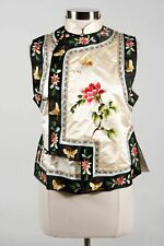 Magnolia Ivory Black 100% Silk Women's Chinese Floral Hand Embroidered Blouse