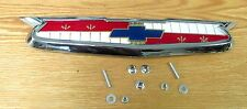 1955 CHEVY HOOD EMBLEM ASSEMBLY with HARDWARE NEW ** Made in USA **