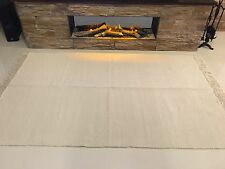 PLAIN Natural CREAM Eco Friendly Recycled Cotton Reversible Washable Kilim Rugs
