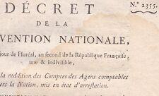 Révolution Décret 2355 Convention National Reddition comptes agents comptables