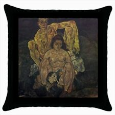 The Family Egon Schiele Throw Pillow Case