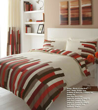 Gaveno Cavailia Luxury Blocks Bed Set With Duvet Cover and Pillow Case Cream/re