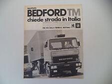 advertising Pubblicità 1976 BEDFORD TM