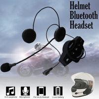 Motorcycle Helmet Headset Speakers Mic Bluetooth 4.0 Intercoms Interphone BT8 US