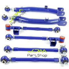 6 PCS REAR LATERAL LINK TRAILING ARM SUSPENSION 02-07 93-01 WRX STI BLUE