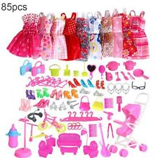 85 Items For Doll Dresses, Shoes,jewellery Clothes Set Accessories Uk