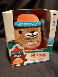 """2010 Vancouver Olympics 8.5"""" Plush Mukmuk Marmot Toy New In Box Sidekick Mascot"""