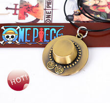 One Piece Cosplay Ace hat Alloy Necklace Anime Chain Collection Gift for Fans