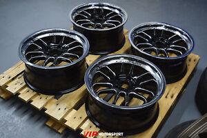 "Cosmis Racing XT-206R Black w/Machined Lip & Spokes 17x8"" ET30 5x114.3 Set of 4"