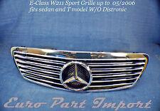 Mercedes-Benz W211 E-Class 2002-2006 Sport Hood Grille W/ Big Star Schatz German