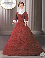 Lucy Hayes FIRST LADIES Collection Annies Fashion Doll Crochet Pattern Barbie