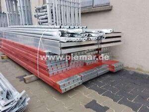 Gerüst Typ Plettac SL70 45 qm mit Durchstieg Fassadengerüst Holzböden 2,5m NEU