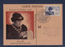 carte  1er jour   journée du timbre   Paris    1945