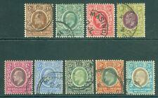 More details for sg 34-42 east africa & uganda protectorate 1907-08. 1c-75c. fine used set of 9..