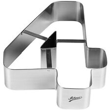 Ateco 6964 Number 4 Large Cake Cookie Cutter 8 Inch