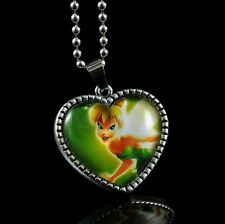Disney Tinkerbell Tinker Bell Chain Pendant Fashion Necklace Child Girl LZ32