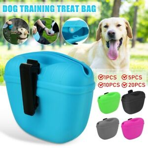 Pet Training Treat Bag Pouch Silicone With Clips Waist Pack Feed Dog UK Stock UK