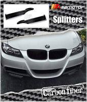 Carbon Fiber M Tech Front Splitters for 05-08 BMW E90 E91 Pre-LCI M Sport Bumper
