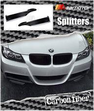 Carbon Fiber Front Splitters for 05-08 BMW E90 E91 Pre-LCI M Tech Sport Bumper