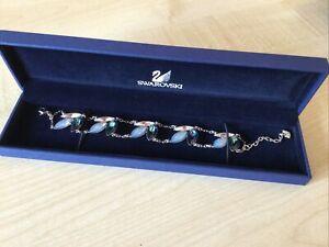 Swarovski Blue Crystal And Silver 18 cms Bracelet