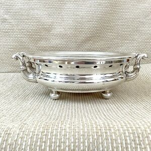 Rare Antique French Silver Plated Plate Warming Buffet Stand Henry Kindberg