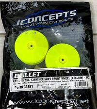 JConcepts 3368Y 1/10th Bullet 60mm Front Wheels Yellow Kyosho ZX6 XRay Yokomo H4