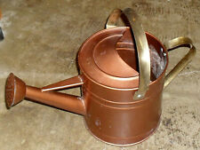 3-quart tin watering can with brass handles