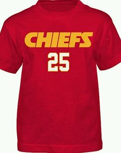 NWT NFL Team Apparel Youth Size L Kansas City Chiefs Jamaal Charles- GREAT GIFT