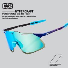 100% Percent Cycling Hypercraft Sunglasses - Matte Metallic Blue 61039-390-69
