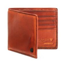 GENUINE TRIUMPH MOTORCYCLES LEATHER WALLET MUSTARD LIGHT BROWN WALLET GIFT BOX