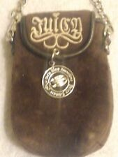 Juicy Couture Velour Brown Cell Phone Clutch Case