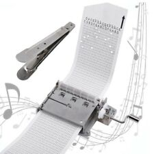 30 Note Hand Cranked Music Box Movement+Hole  00004000 Puncher+20/X Paper Tape Hot 889