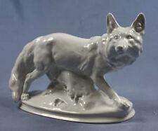 Große Fuchs figur von Meissen fox porzellan porzellanfigur fuchsfigur polarfuchs