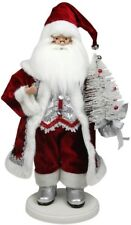 Red White Christmas Decoration Santa Clause Tabletop Elegant Style Display New