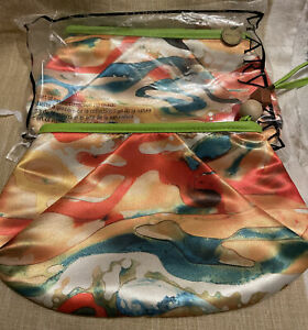 Lot Of 2 New MARY KAY Makeup Bag ART OF NATURE Collection Watercolor. (QQ)