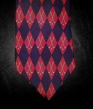 2416t Red Navy Diamond NIB New HARRODS KNIGHTSBRIDGE Geometric Silk Tie!