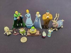 Lot of 11 Disney FROZEN Mini Figure Play Set Cake Toppers Olaf Ana Elsa Kristoff