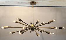 Mid Century Modern Brass Sputnik atomic chandelier starburst light Fixture