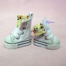 """Mimi Collection 12"""" Neo Blythe Pullip Doll Denim MICRO Shoes Folded Boots White"""