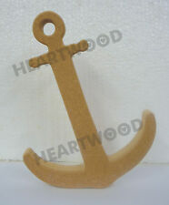 ANCHOR SHAPE IN MDF (183mm x 18mm thick)/WOODEN BLANK CRAFT SHAPES/NAUTICAL