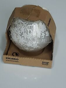 "IKEA KNUBBIG 7"" Frosted Cherry Blossom Table Lamp  NEW unopened"