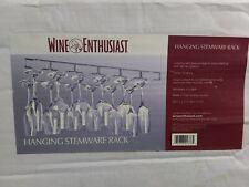 Wine Glass Rack Stemware Holder18 Under Cabinet Bar Shelf  WINE ENTHUSIAST