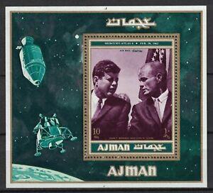 AJMAN:1971 S/S MH Pres. Kennedy & John Glenn Mercury-Atlas 6 spaceflight  R120