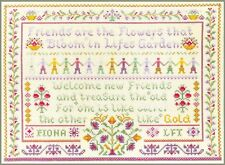 Friendship Sampler - complete cross stitch kit on 14 aida with COLOUR chart